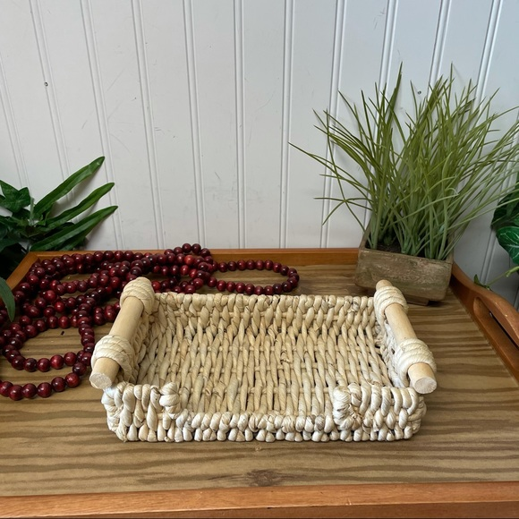 Decorative Woven BOHO Tray/Basket/Holder